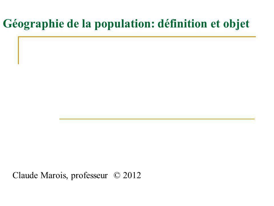 Géographie de la population: définition et objet