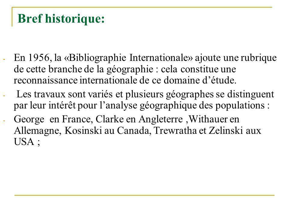 Bref historique: