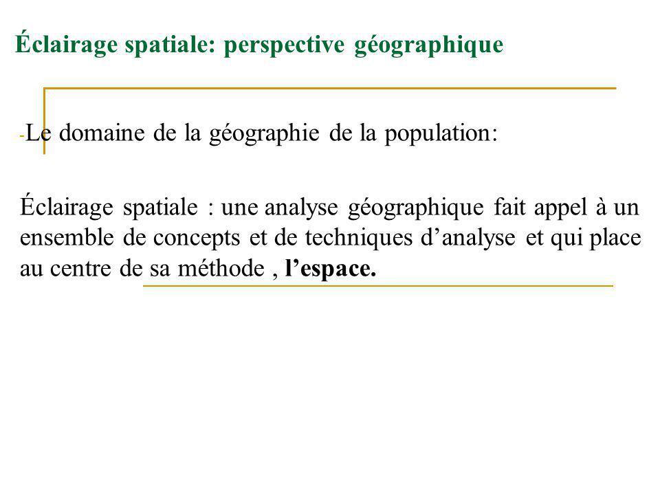 Éclairage spatiale: perspective géographique