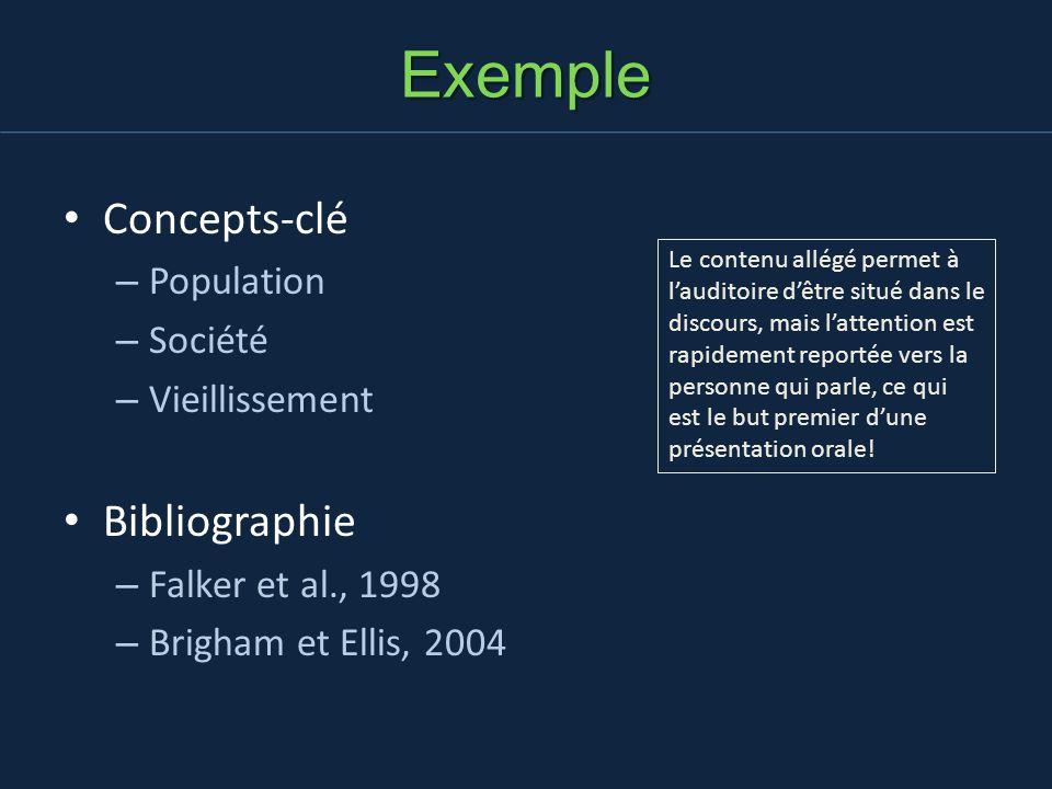 Exemple Concepts-clé Bibliographie Population Société Vieillissement