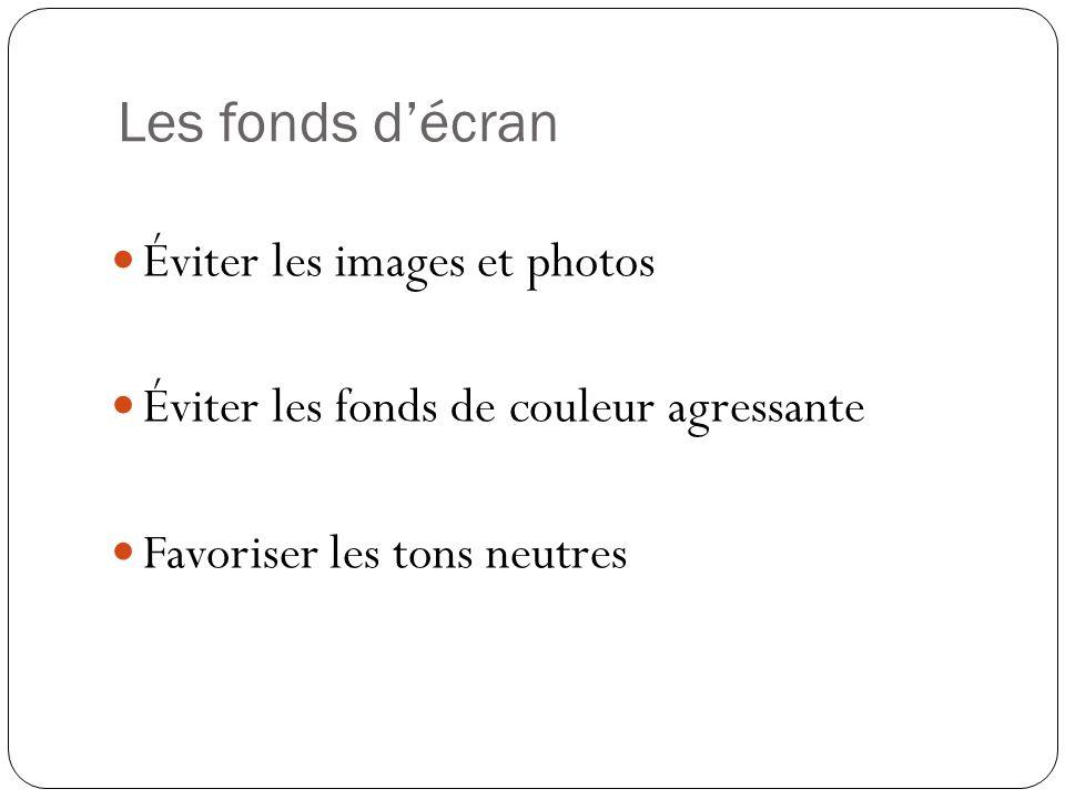 Les fonds d'écran Éviter les images et photos