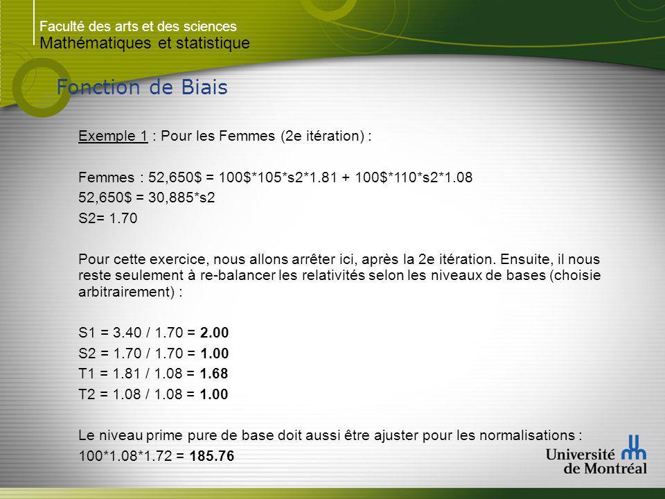 Fonction de Biais Mathématiques et statistique