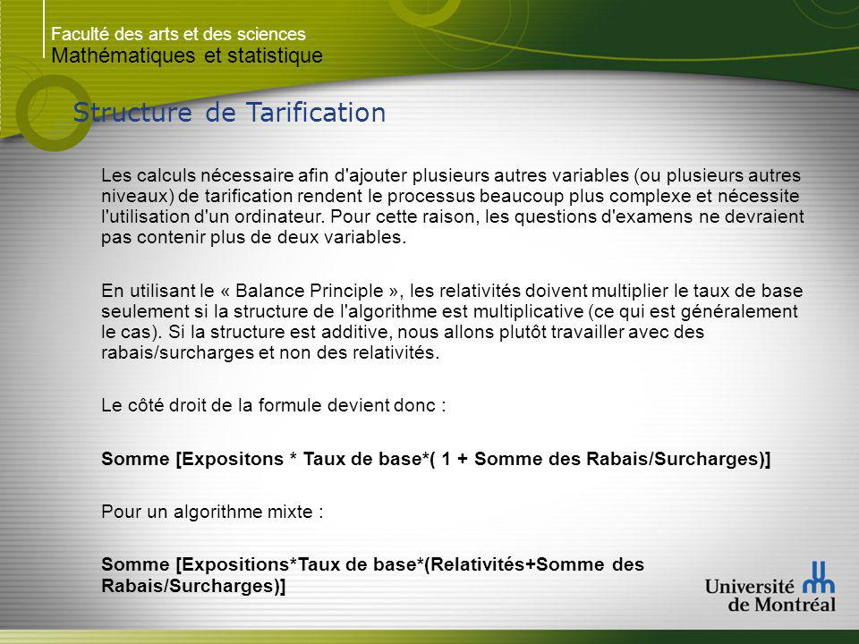 Structure de Tarification