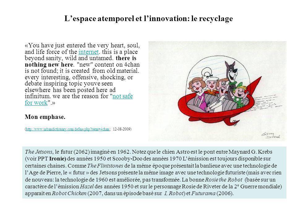 L'espace atemporel et l'innovation: le recyclage