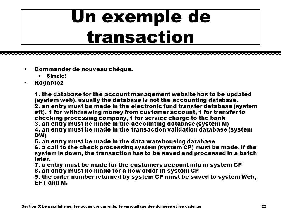 Un exemple de transaction