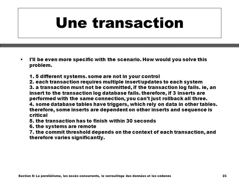 Une transaction