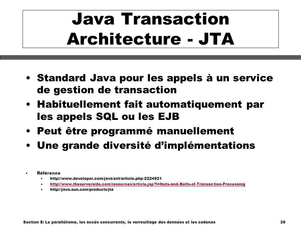 Java Transaction Architecture - JTA