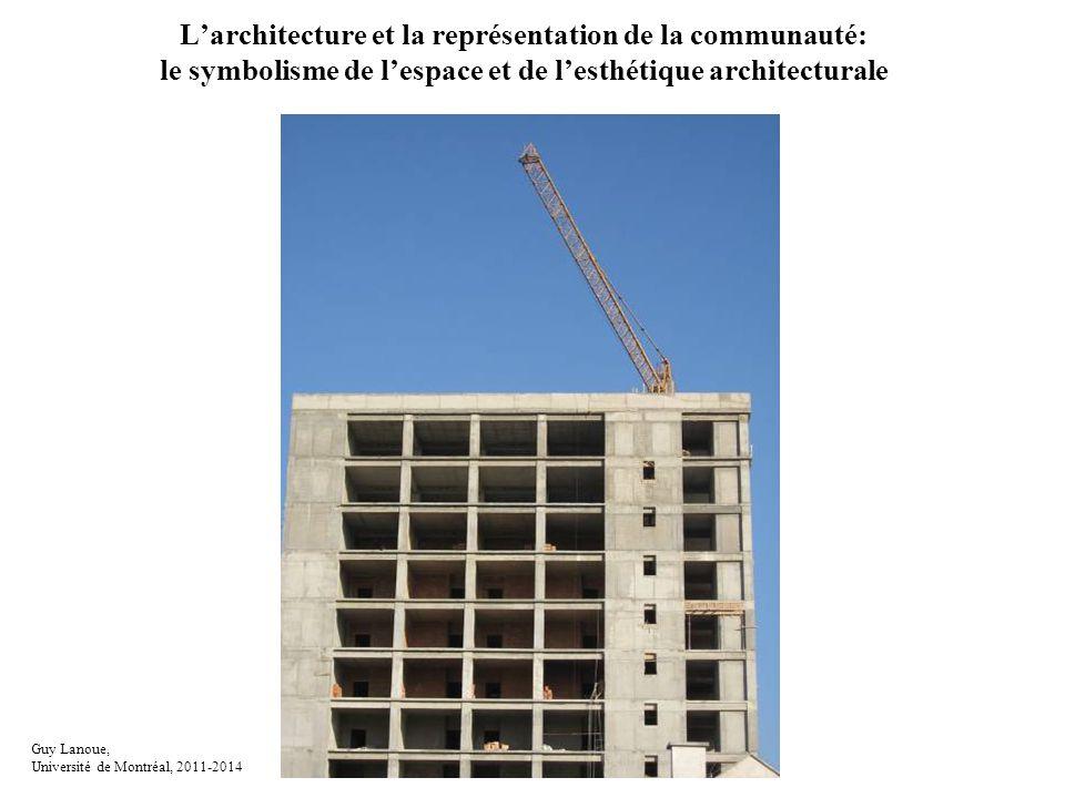 L'architecture et la représentation de la communauté: le symbolisme de l'espace et de l'esthétique architecturale