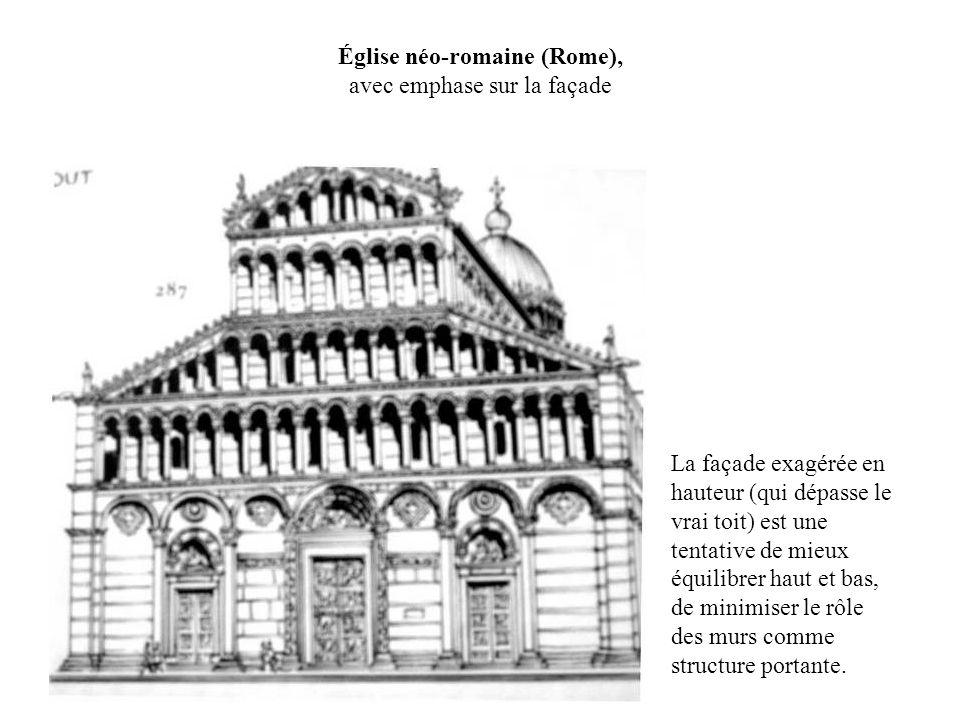 Église néo-romaine (Rome), avec emphase sur la façade