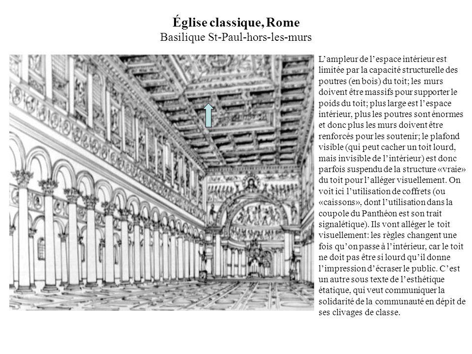 Église classique, Rome Basilique St-Paul-hors-les-murs