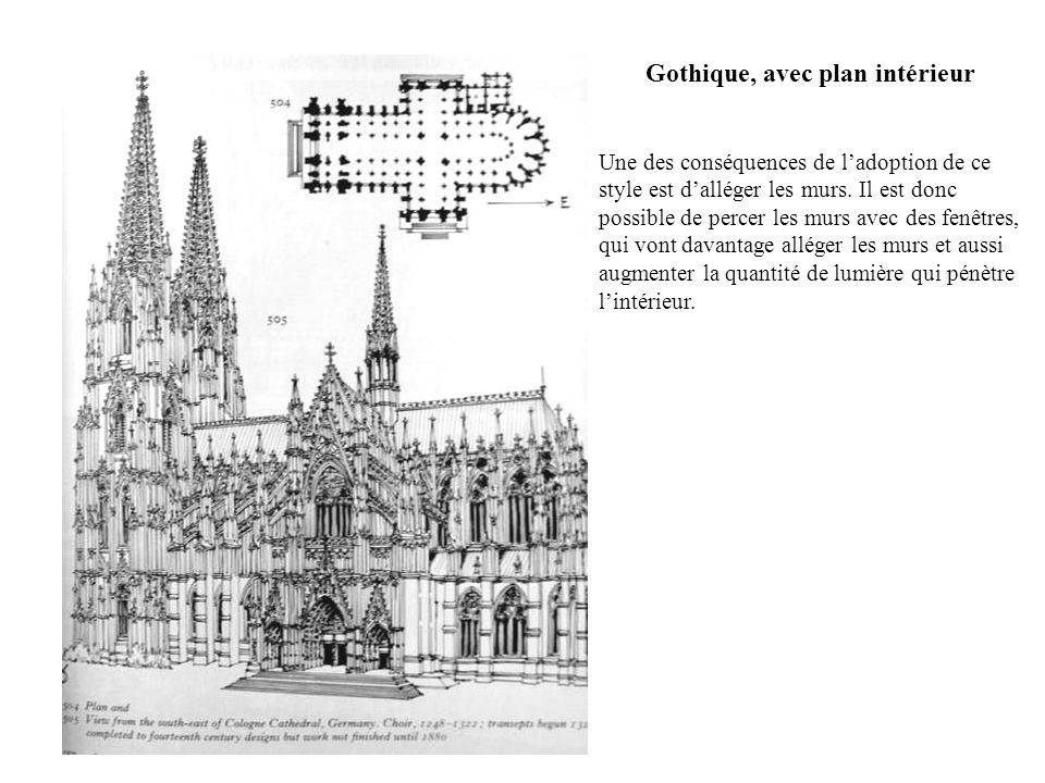 Gothique, avec plan intérieur