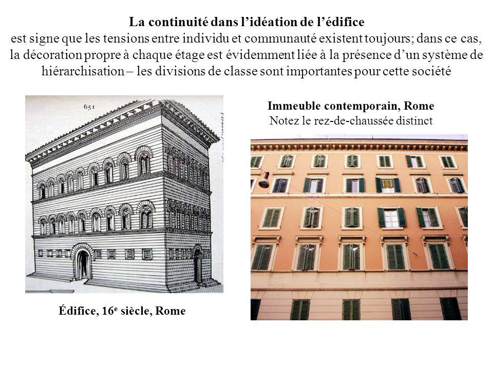 Immeuble contemporain, Rome Notez le rez-de-chaussée distinct