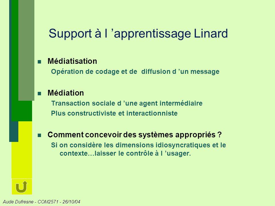Support à l 'apprentissage Linard