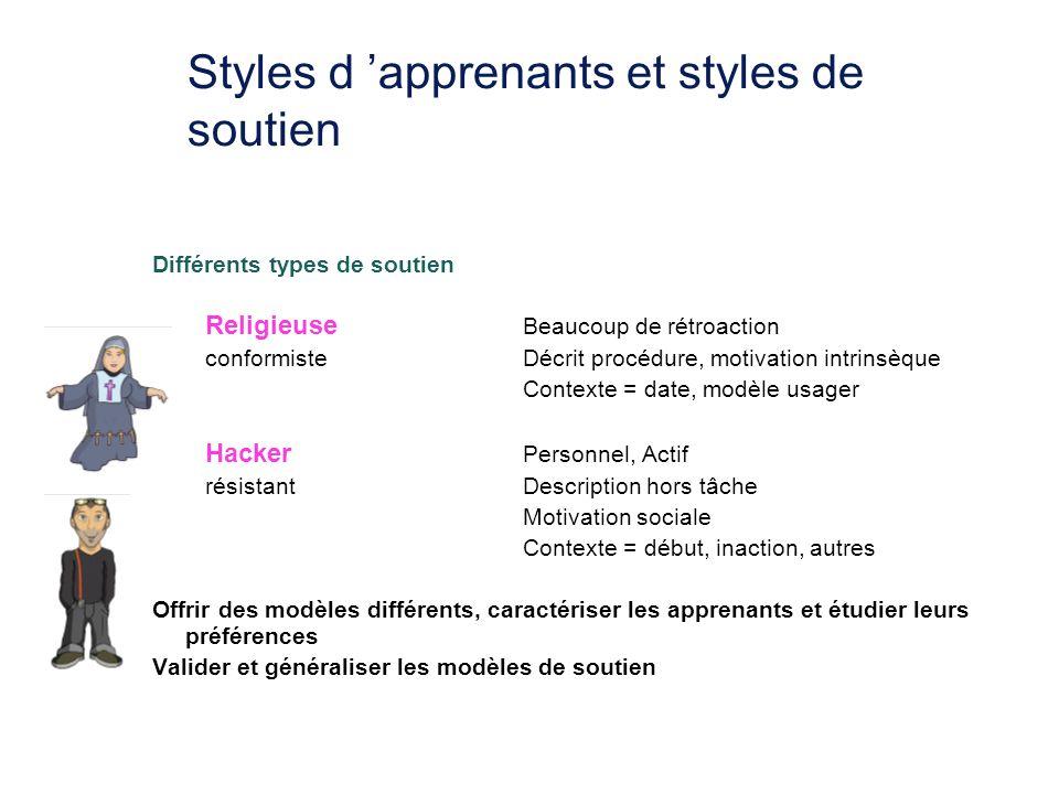 Styles d 'apprenants et styles de soutien