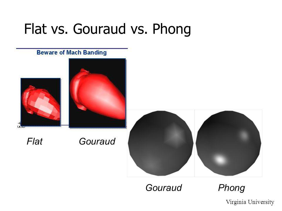 Flat vs. Gouraud vs. Phong