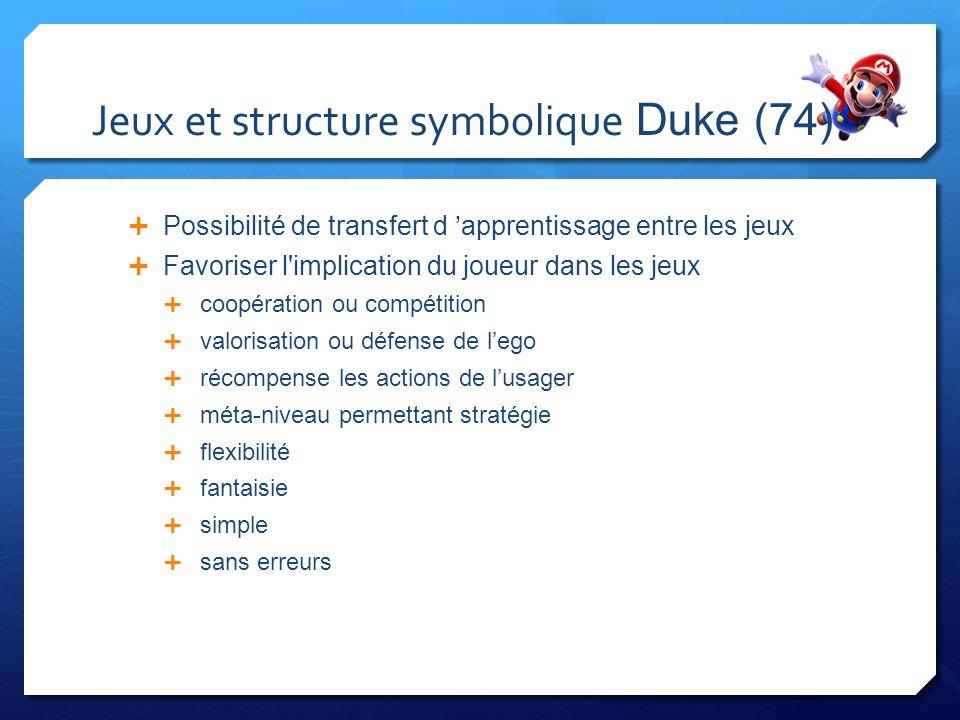 Jeux et structure symbolique Duke (74)