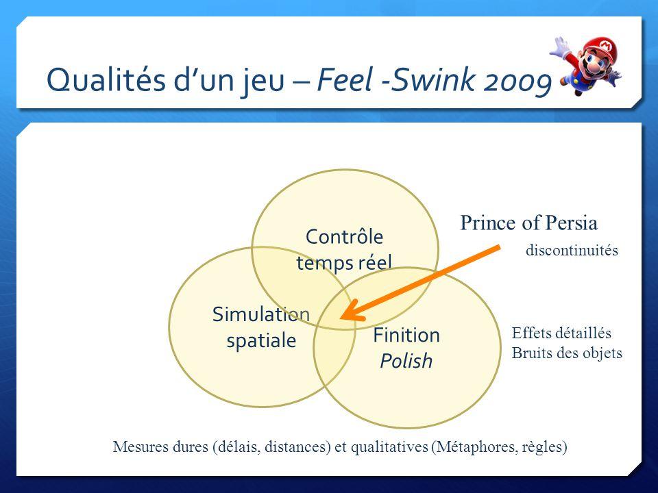 Qualités d'un jeu – Feel -Swink 2009