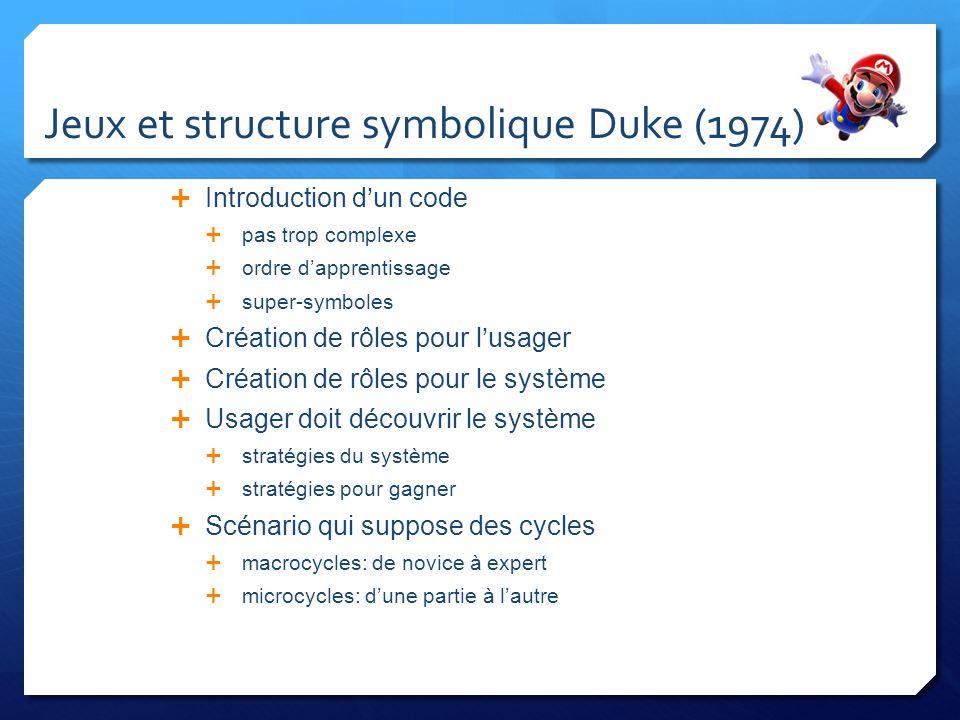 Jeux et structure symbolique Duke (1974)