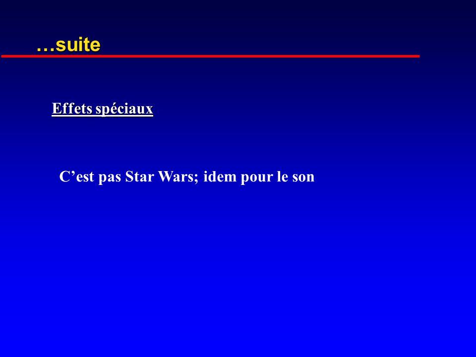 …suite Effets spéciaux C'est pas Star Wars; idem pour le son