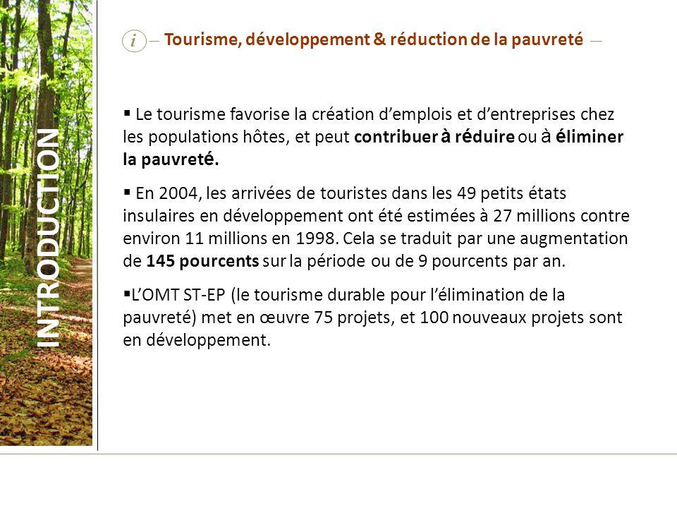 Tourisme, développement & réduction de la pauvreté