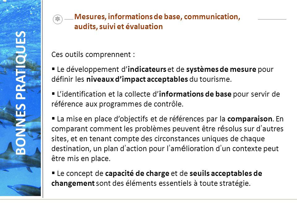 Mesures, informations de base, communication, audits, suivi et évaluation