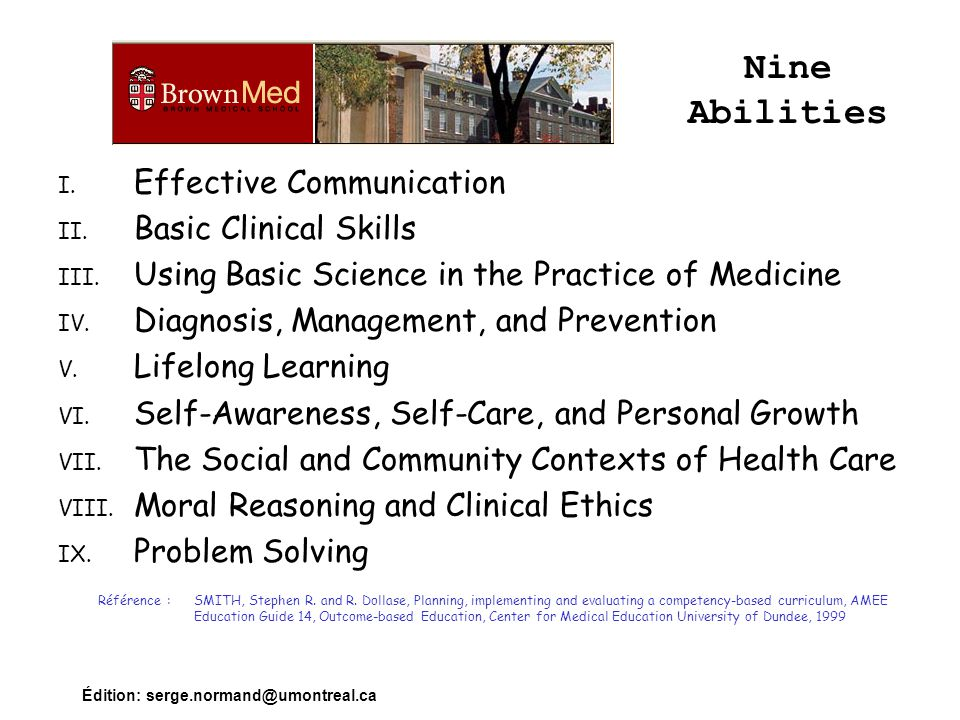 Nine Abilities Effective Communication Basic Clinical Skills