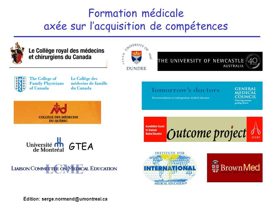 Formation médicale axée sur l'acquisition de compétences