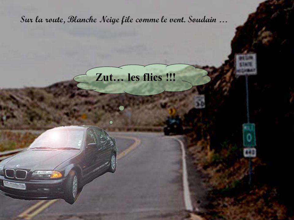 Sur la route, Blanche Neige file comme le vent. Soudain …