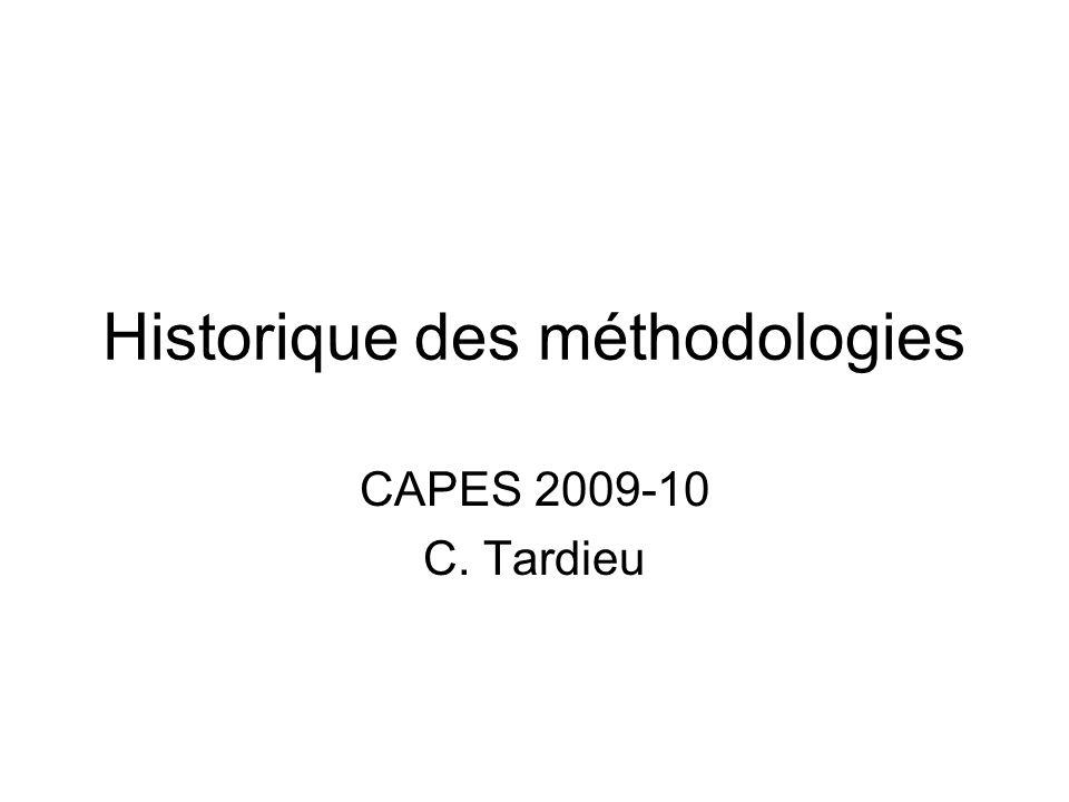Historique des méthodologies