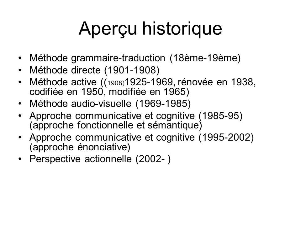 Aperçu historique Méthode grammaire-traduction (18ème-19ème)
