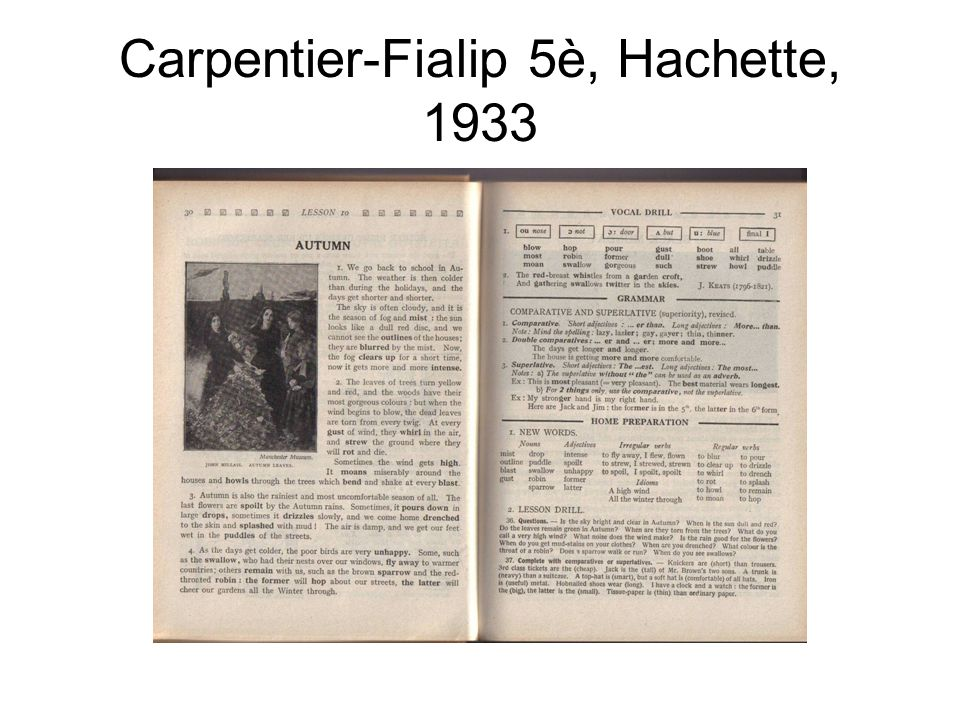 Carpentier-Fialip 5è, Hachette, 1933