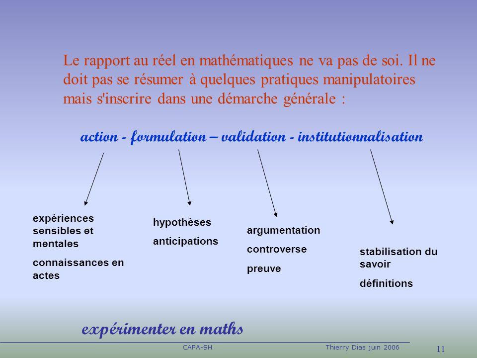 Le rapport au réel en mathématiques ne va pas de soi