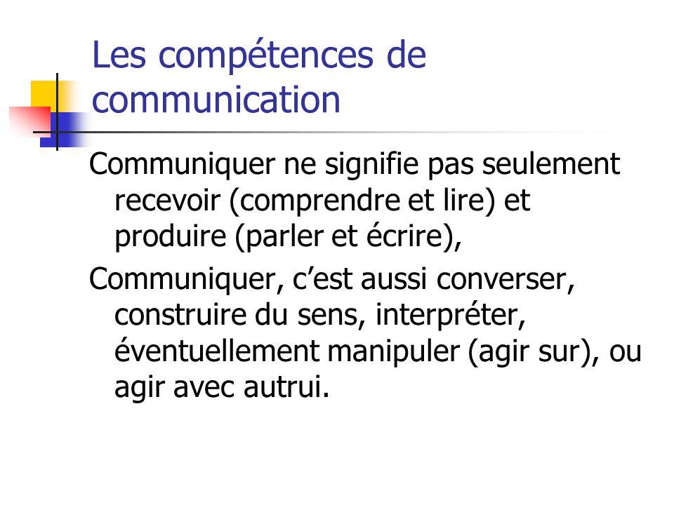 Les compétences de communication