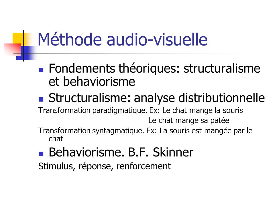 Méthode audio-visuelle
