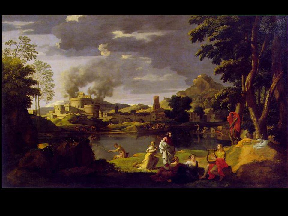 Poussin Orphée et Eurydice