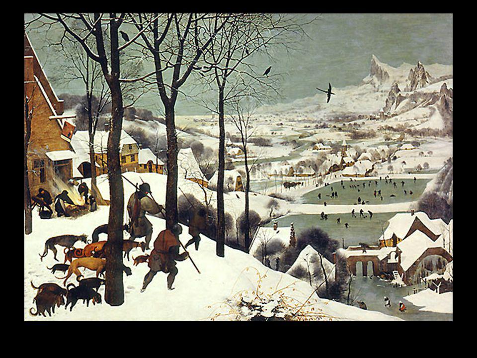 Bruegel chasseurs ds la neige hiver 1569