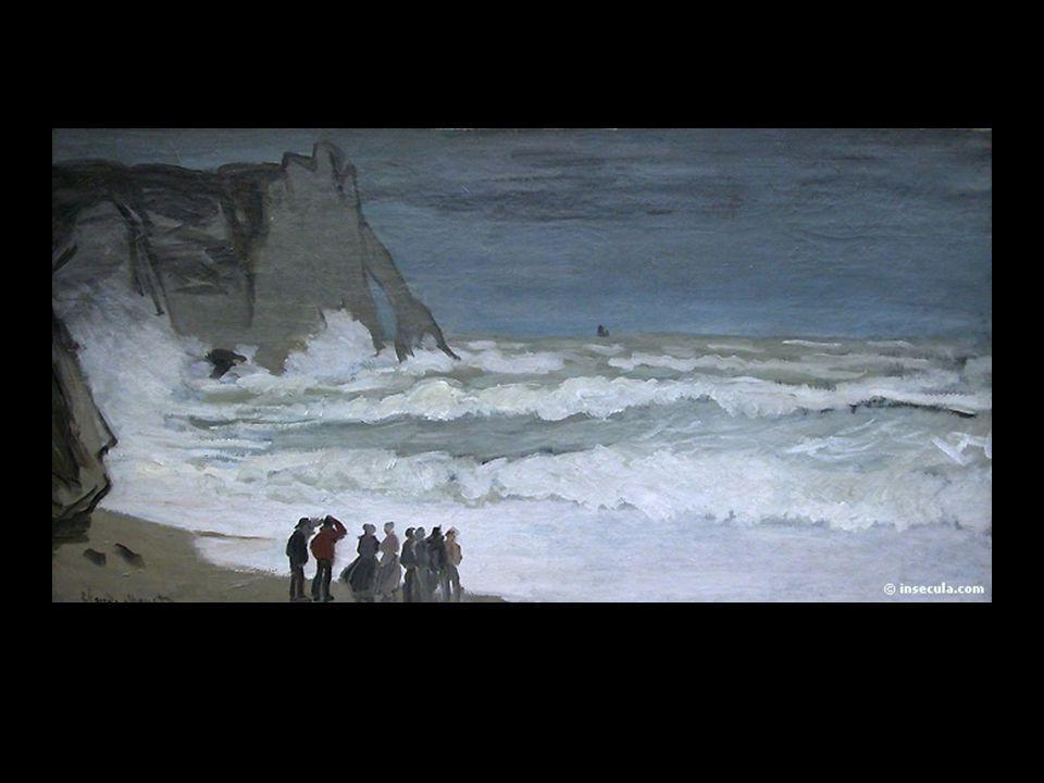 Monet grosse mer à etretat 1868 ou 69
