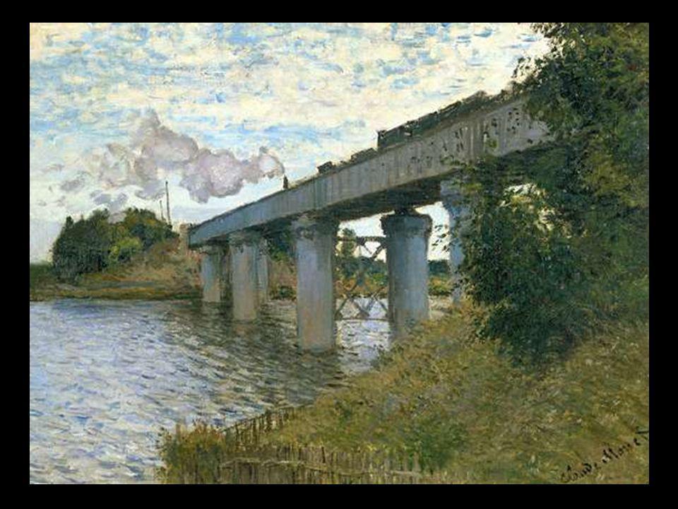 Monet le pont de chemin de fer à Argenteuil 1874