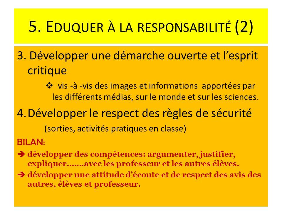 5. Eduquer à la responsabilité (2)