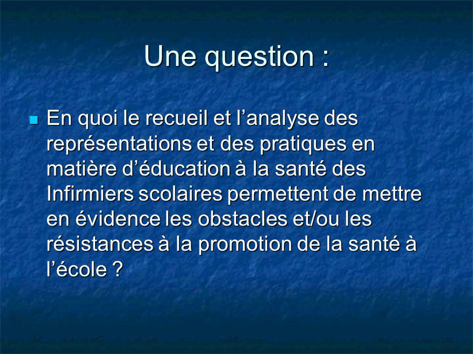 Une question :