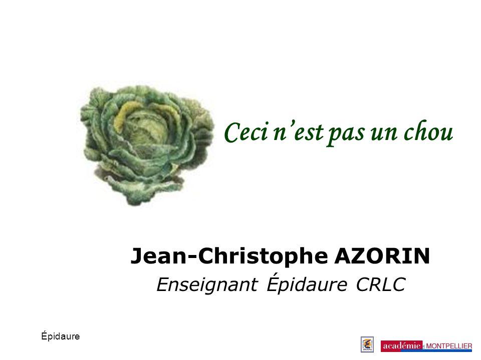 Jean-Christophe AZORIN Enseignant Épidaure CRLC