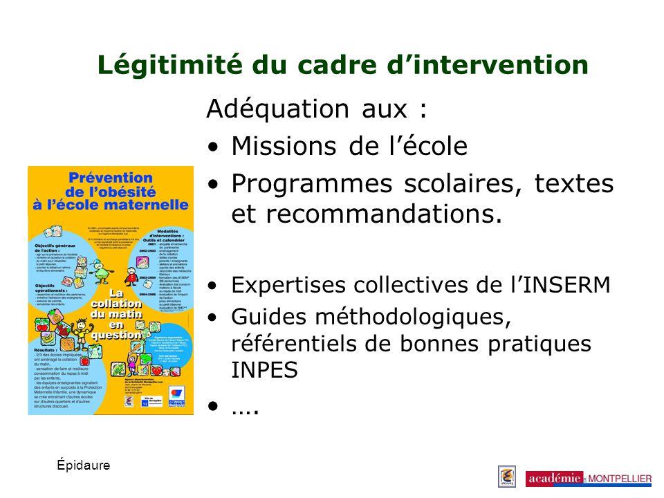 Légitimité du cadre d'intervention