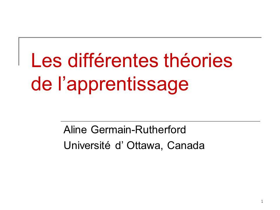 Les différentes théories de l'apprentissage