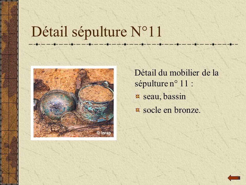Détail sépulture N°11 Détail du mobilier de la sépulture n° 11 :