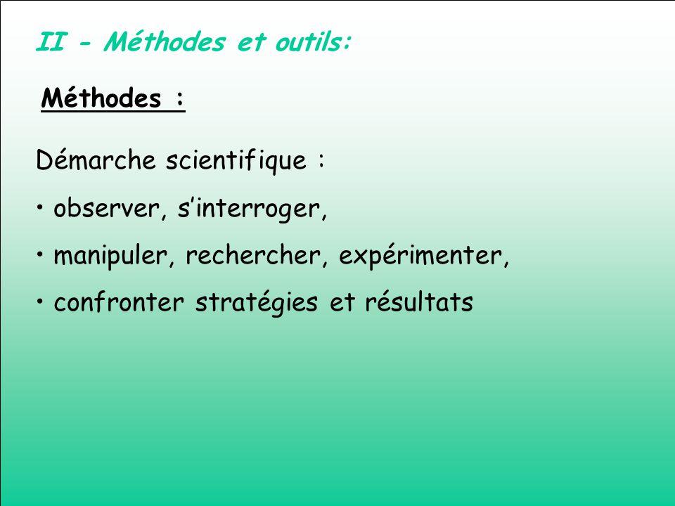 II - Méthodes et outils: