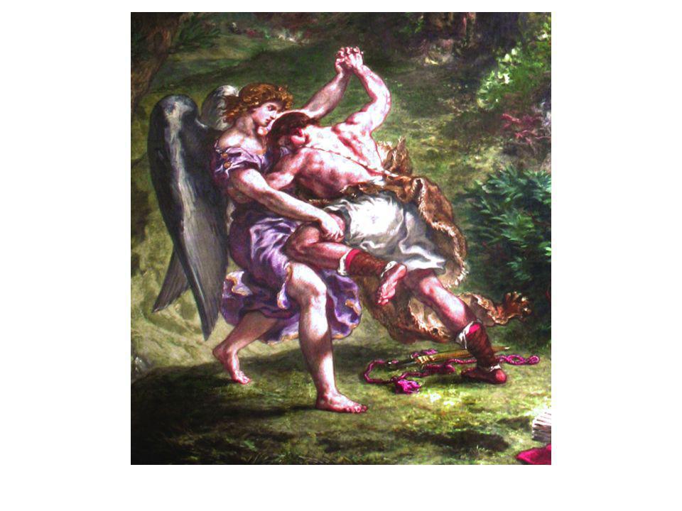 La lutte de Jacob avec l'Ange détail