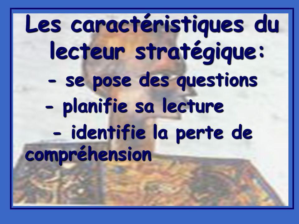 Les caractéristiques du lecteur stratégique: