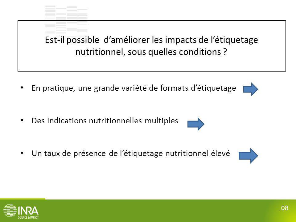 Est-il possible d'améliorer les impacts de l'étiquetage nutritionnel, sous quelles conditions