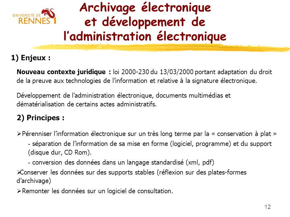 Archivage électronique et développement de l'administration électronique