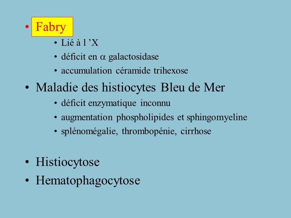 Maladie des histiocytes Bleu de Mer